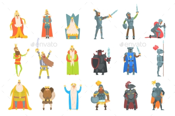 Fairy-Tale Kings Set - People Characters