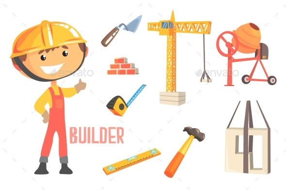 Boy Builder Kids Future Dream Construction Worker - Industries Business