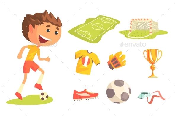Boy Soccer Football Player - Sports/Activity Conceptual