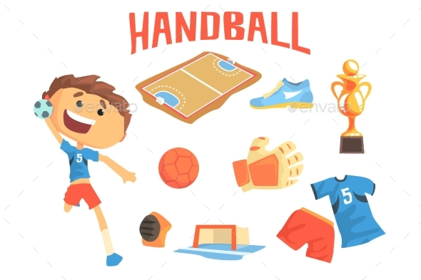 Boy Handball Player Kids Future Dream - Sports/Activity Conceptual