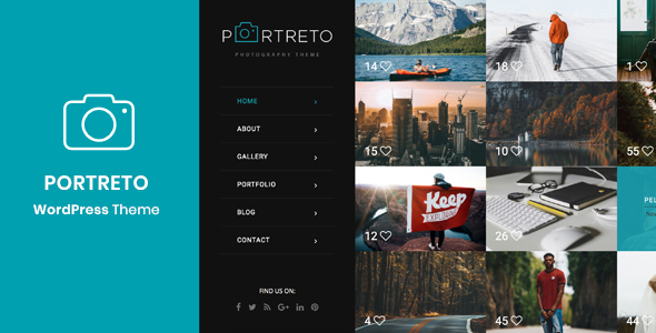 Portreto - Photography & Portfolio WordPress Theme - Photography Creative
