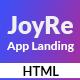JoyRe - App Landing HTML5 Template - ThemeForest Item for Sale