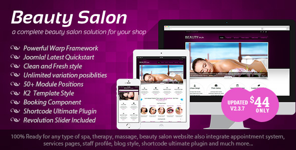 Beauty Salon - Responsive Joomla Template