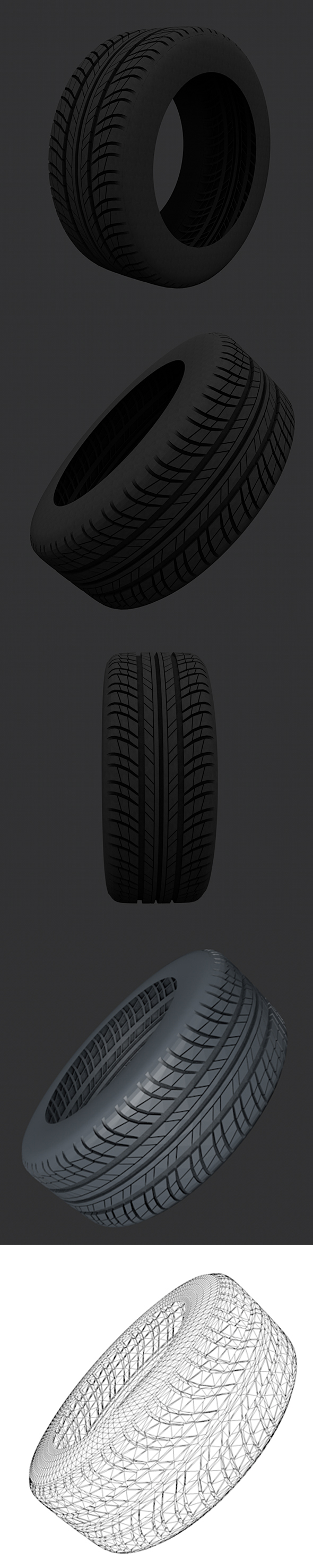 Tire 3D Models with full textures - 3DOcean Item for Sale