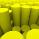 Yellow Cylinders Loop - VideoHive Item for Sale