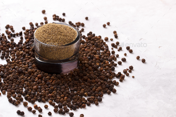 Black pepper - Stock Photo - Images
