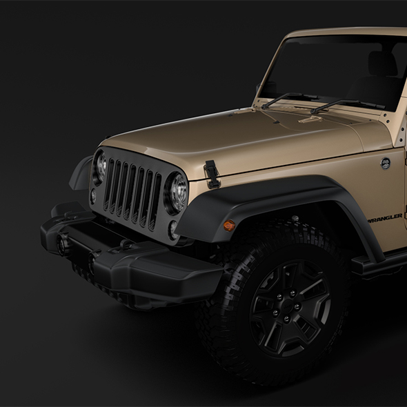 Jeep Wrangler Willys Wheeler JK 2017 - 3DOcean Item for Sale