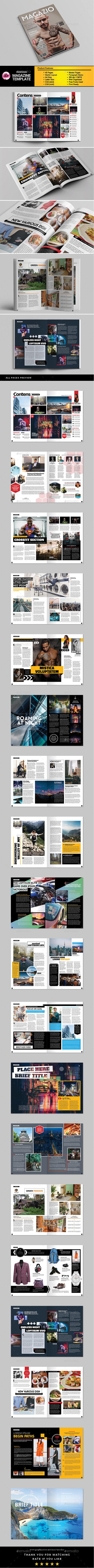 A4 Letter Magazine Template - Magazines Print Templates