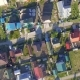 Panoramic Aerial View Over on Residential Houses in the Countryside, Yards and Suburban Communities - VideoHive Item for Sale