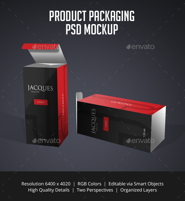 Product Packaging PSD Mockup - Packaging Product Mock-Ups