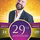 Christ Ministry Anniversary Church Flyer