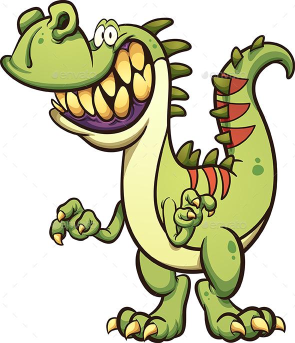 Happy Cartoon Dinosaur - Animals Characters