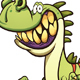 Happy Cartoon Dinosaur - GraphicRiver Item for Sale