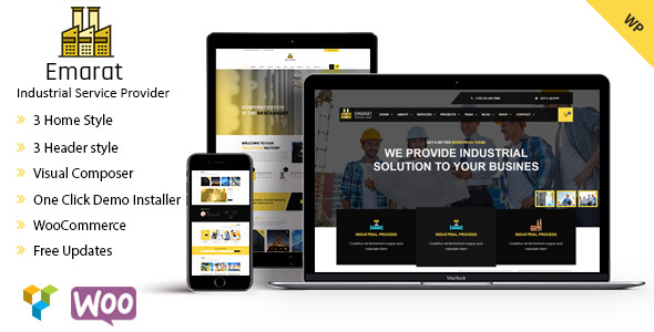 Emarat-Industry & Business WordPress Theme