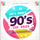 90's party VIP pass Invitation