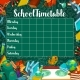 School Vector Timetable on Green Chalkboard - GraphicRiver Item for Sale