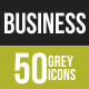 50 Business & Finance Grey Scale Icons