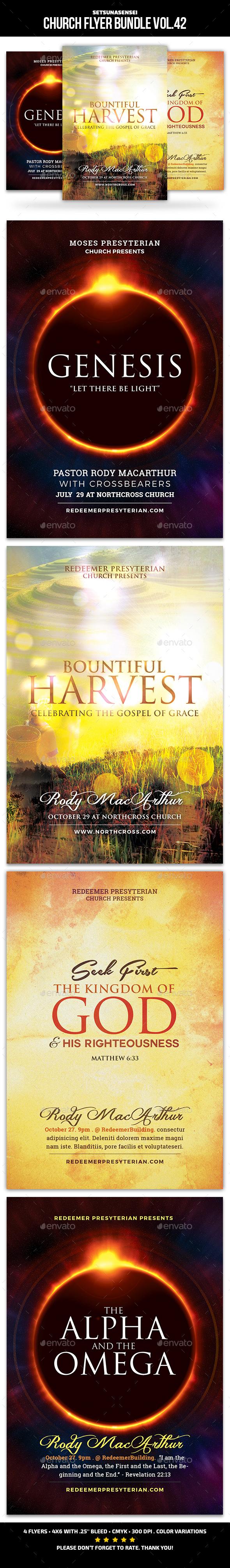 Church Flyer Bundle Vol. 42 - Church Flyers