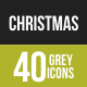 40 Christmas Grey Scale Icons