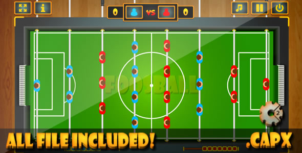 FoosBall - Game (CAPX & HTML) Game. - CodeCanyon Item for Sale