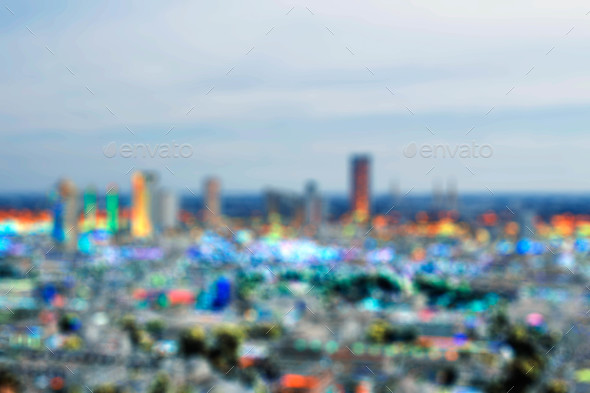 capital with colorful blur - Stock Photo - Images