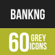 60 Banking Grey Scale Icons - GraphicRiver Item for Sale