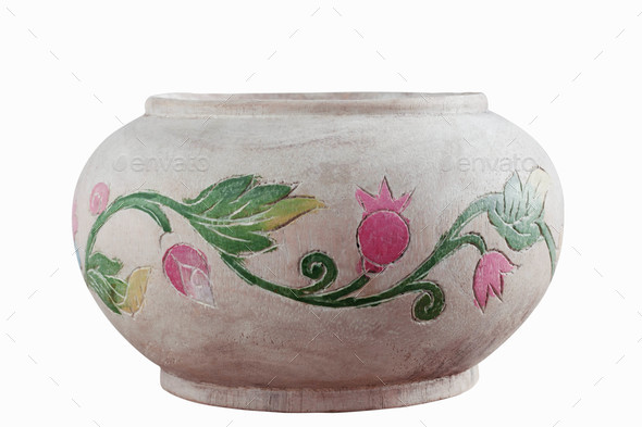 old vase with a white background - Stock Photo - Images