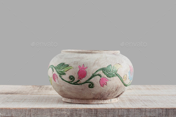 vase with gray background - Stock Photo - Images