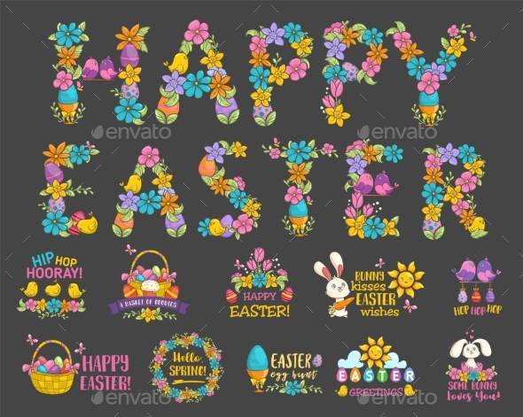 Happy Easter Card - Flowers & Plants Nature