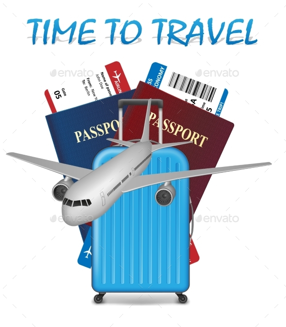 Air Travel International Vacation Concept - Travel Conceptual