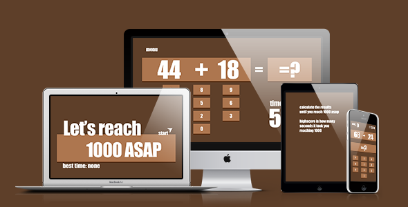 Math Game: Let's Reach 1000 ASAP - CodeCanyon Item for Sale