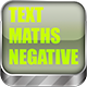 Math Game: Text Maths Negative