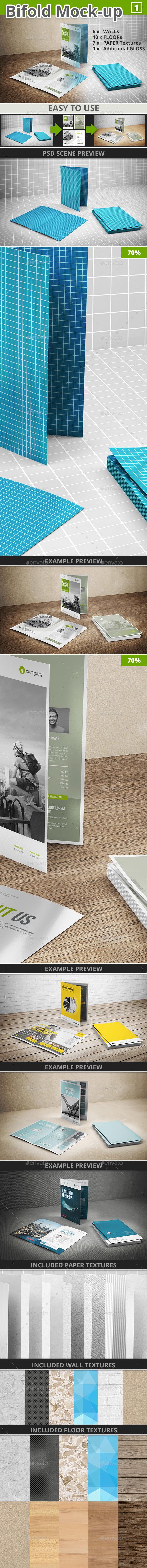 Bi-fold Brochure Mock-up 1 - Brochures Print