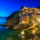 Riomaggiore village, rocks and sea at sunset. Cinque Terre, Ligu - PhotoDune Item for Sale