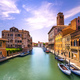Venice canal in Cannaregio and San Geremia church landmark. Ital - PhotoDune Item for Sale