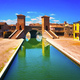 Comacchio, Tre Ponti or Trepponti three way bridge. Ferrara, Emi - PhotoDune Item for Sale