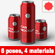 Aluminium Can 250ml 330ml 500ml - GraphicRiver Item for Sale