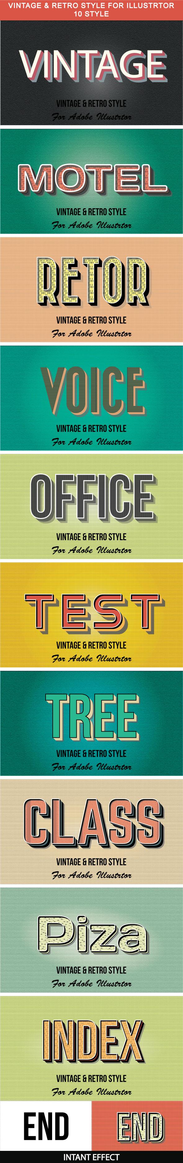 10_Vintage & Retro Style - Styles Illustrator