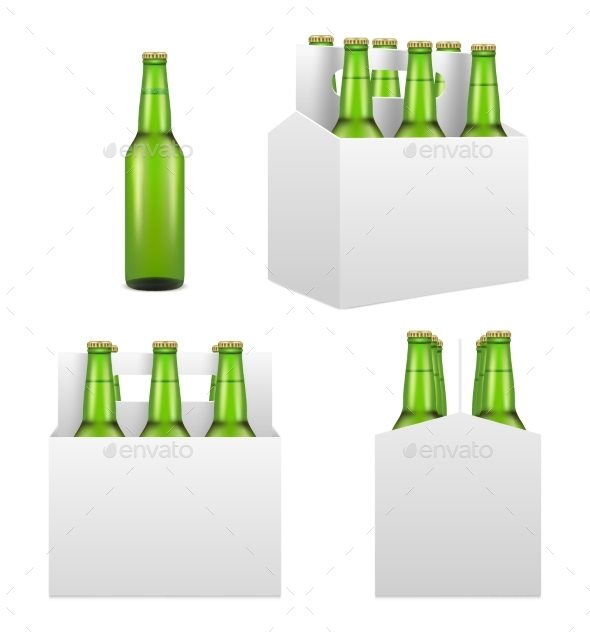 Beer Bottle Mockup Set - Food Objects