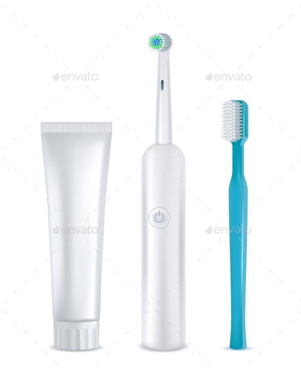 Dental Cleaning Tools Set - Health/Medicine Conceptual