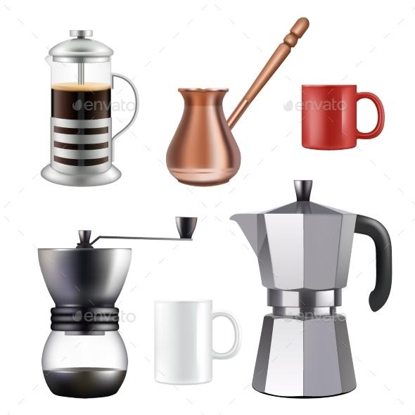 Turkish Coffee Set - Food Objects