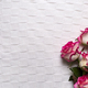 Roses frame on white background - PhotoDune Item for Sale