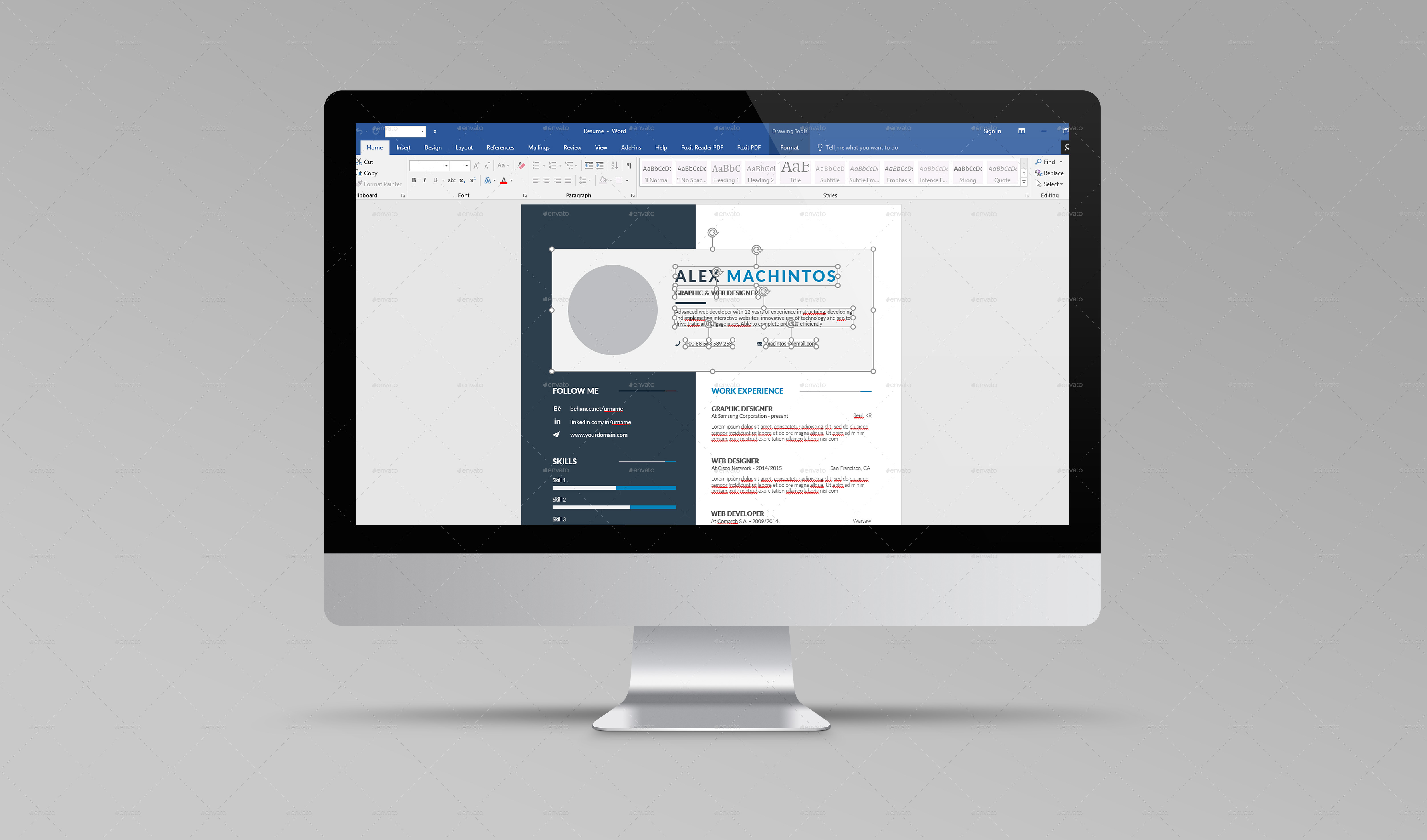 Resume CV by DesignsTemplate | GraphicRiver
