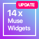 14x Adobe Muse Widgets by Rosea Themes