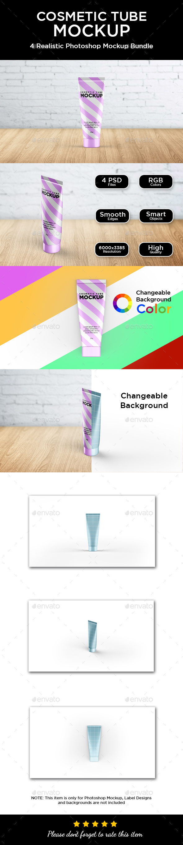 Cosmetic Tube Mockup - Packaging Product Mock-Ups