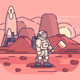 Astronaut on Surface of Planet - GraphicRiver Item for Sale