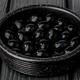 black olives in black clay pot, on black wooden - PhotoDune Item for Sale