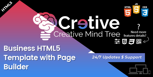 Image of Creative Mind Tree - HTML5 Agency Template