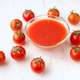 tomatoes and tomato sauce on elegant marble - PhotoDune Item for Sale