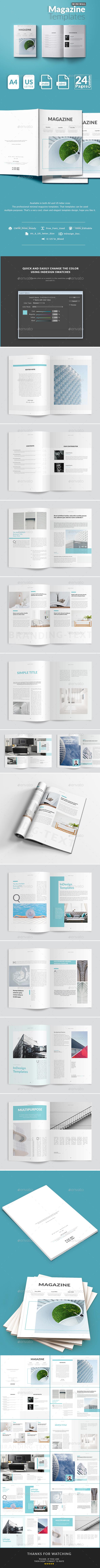 Minimal Magazine Templates - Magazines Print Templates